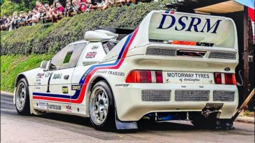 Ford RS200 Evo doet Shelsley Walsh Hillclimb