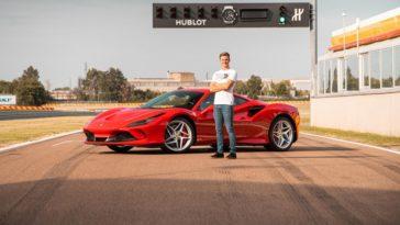 Mick Schumacher test Ferrari F8 Tributo