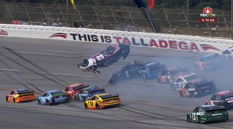 NASCAR Brendan Gaughan Flip Talladega 500