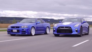 Nissan GTR 50th Anniversary Edition vs R34 Skyline GTR V-Spec