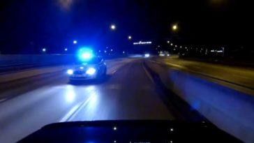 Politie achtervolgt BMW M5 V10 in Stockholm