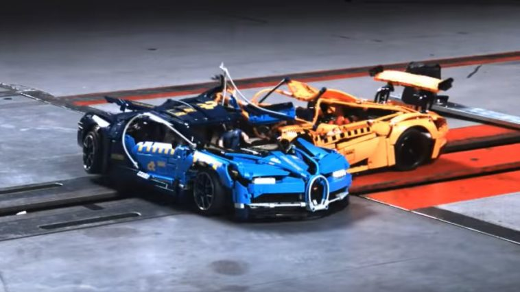 Porsche 911 GT3 RS botst bovenop Bugatti Chiron