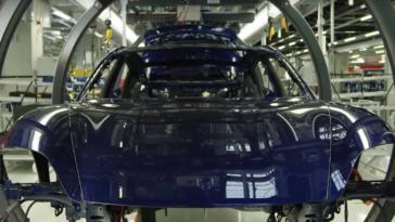 Porsche Taycan in opbouw