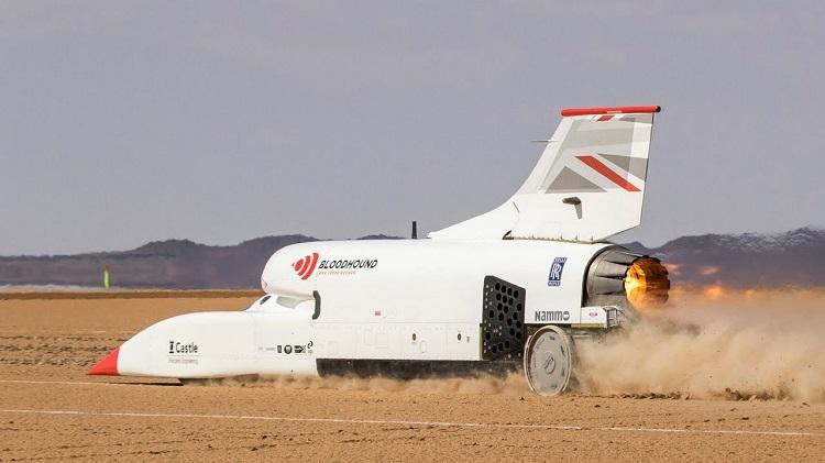 Bloodhound LSR haalt 1010 kmh tijdens test