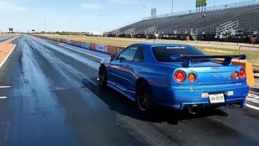 Nissan Skyline R34 GT-R Crash