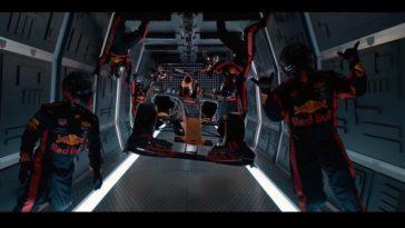Red Bull pitstop zonder zwaartekracht