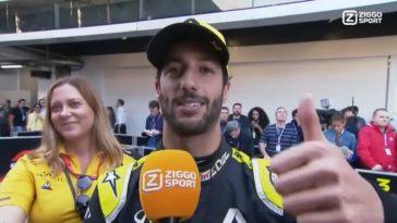 Ricciardo geeft Verstappen een duim omhoog voor pole