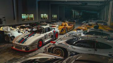 De niet zo geheime garage van Porsche