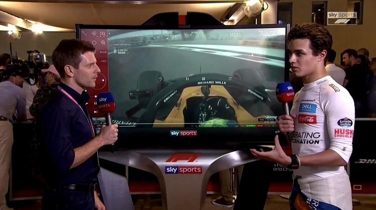 Lando Norris analyseert zijn race bij Sky Sports