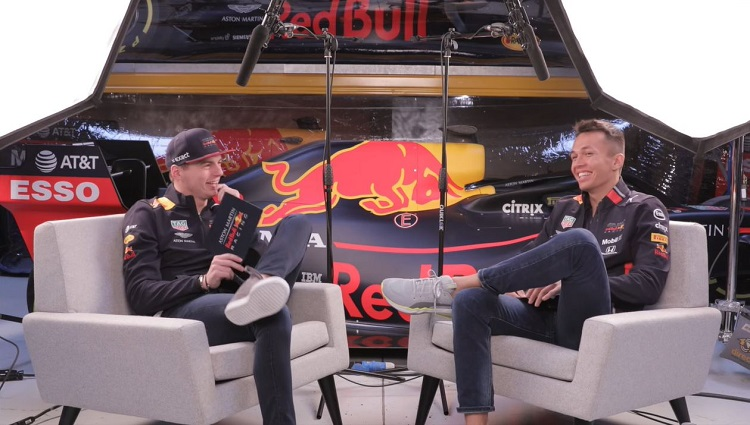 Max Verstappen en Alex Albon bespreken seizoen 2019
