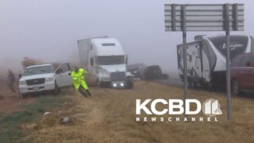 Mist zorgt voor chaos op snelweg in Texas
