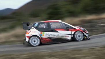 Sébastien Ogier eerste test met de Toyota Yaris WRC