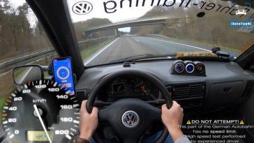215 kmh met een VW Caddy 1.9 TDI