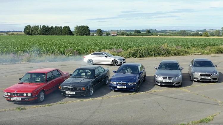 Alle-generaties-van-de-BMW-M5-in-één-mega-test