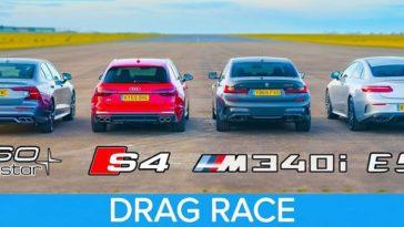 BMW M340i vs Audi S4 vs AMG E53 vs Volvo S60 Polestar