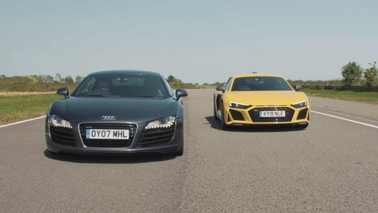 De originele Audi R8 vs de nieuwe R8 Performance