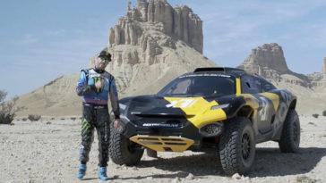Ken Block reed met de elektrische Odyssey 21 in de Dakar Rally