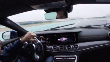 Mercedes-AMG GT 63 S 4-Door gaat dwars in de regen