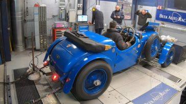Op de rollenbank - Bentley 4.5 uit 1929