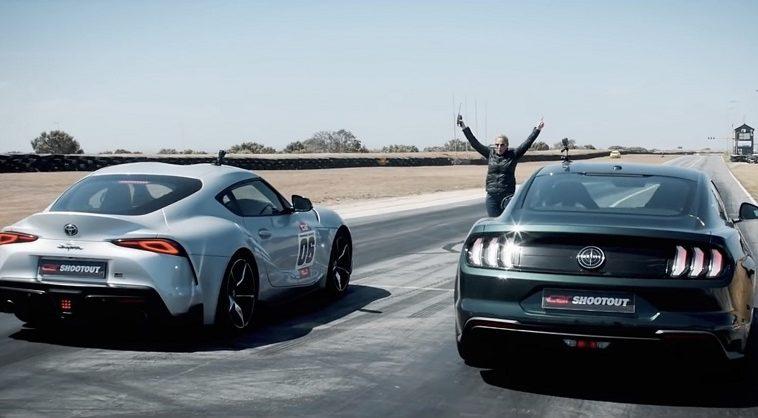 Toyota-GR-Supra-en-Ford-Mustang-Bullitt-dragrace
