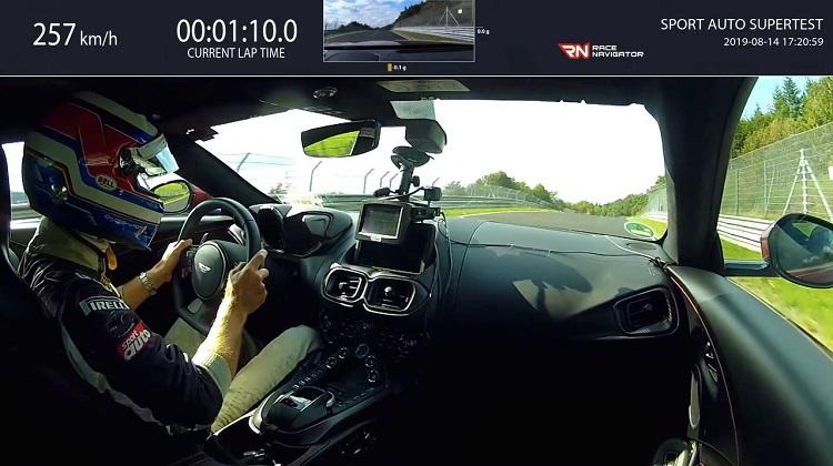 Aston Martin Vantage Nordschleife Lap