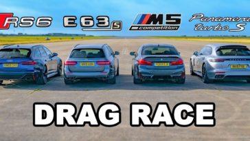 Audi RS6 vs BMW M5 vs AMG E63 S vs Porsche Panamera Turbo S