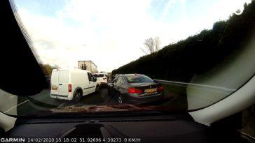 BMW-bestuurder denkt file te kunnen vermijden op A20