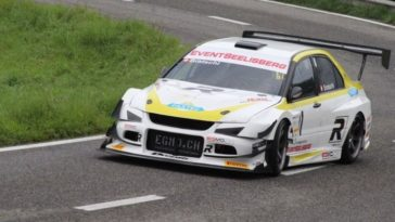 Dit is de snelste Mitsubishi Lancer Evo in Hillclimb