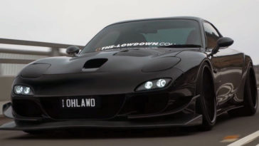 All black 550 pk Mazda RX-7