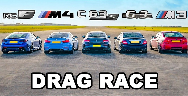 BMW M4 vs Mercedes-AMG C63 S vs Lexus RC F