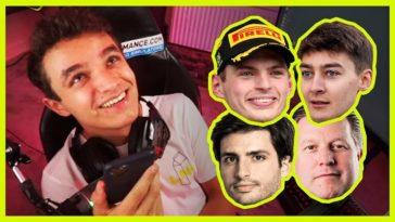 Lando Norris belt Verstappen, Sainz, Russell en anderen voor tips