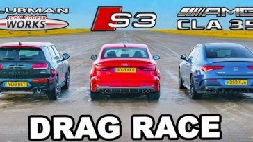 Mercedes-AMG CLA 35 vs Audi S3 vs MINI Clubman JCW