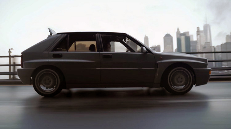 Magnus Walker toert met een Lancia Delta Integrale Evo door NYC