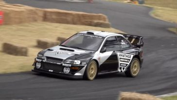 McRae wint wederom Leadfoot Hillclimb met 880 pk Impreza WRC
