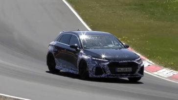 Nieuwe Audi RS3 Sportback gespot op de 'Ring