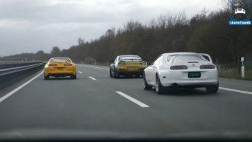Toyota Supra's en Nissan R35 GT-R trekken sprintjes
