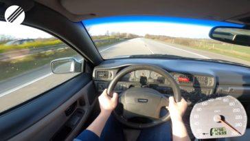 Volvo C70 T5 naar topsnelheid