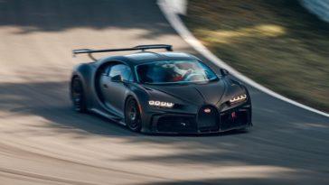 Bugatti Chiron Pur Sport in actie op Bilster Berg
