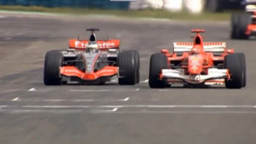 F1 Battle - Schumacher vs de La Rosa Hungaroring 2006