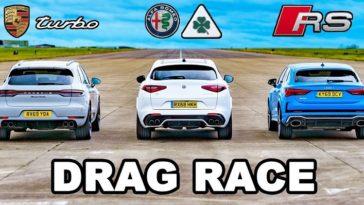 Porsche Macan Turbo vs Audi RSQ3 vs Alfa Romeo Stelvio QV