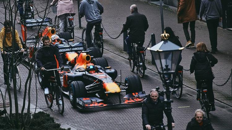 Max Verstappen and Alexander Albon