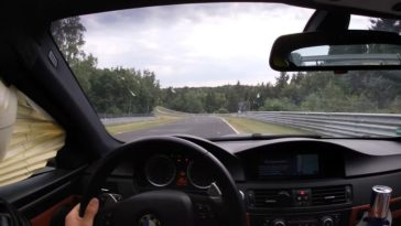 Airbag gaat af in BMW E92 M3 tijdens rondje Nürburgring