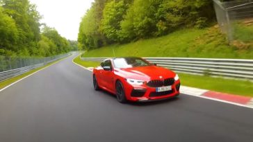 BMW M8 Competition klokt Nordschleife in 7.32 min
