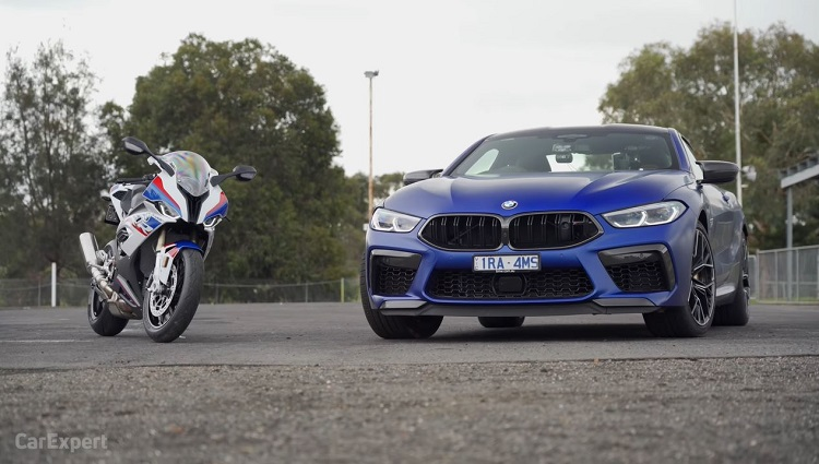 BMW M8 Competition vs BMW S1000 RR