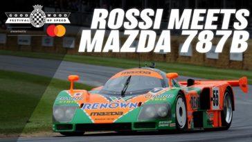 Die keer dat Valentino Rossi de Mazda 787B bestuurde