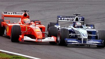 F1 Battle - Schumacher vs Montoya Brazilië 2001