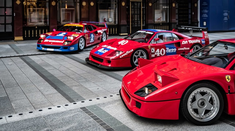 Ferrari F40 in hartje Londen