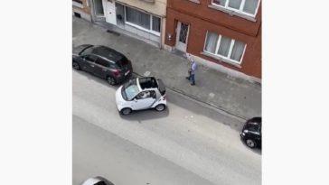 Fileparkeren met een Smart Fortwo Cabrio