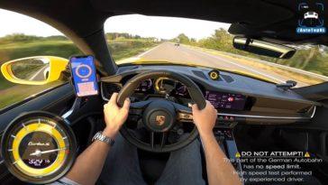 Porsche 992 Turbo S topsnelheid