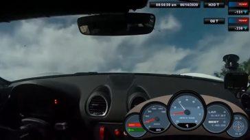 Porsche Cayman GT4 Clubsport spint over koelvloeistof